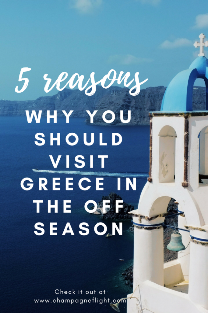 Not sure if you should visit Greece in the off season? There are plenty of reasons to make a trip in the winter and this post gives you five of the best ones! You'll be booking your trip shortly after you read this #greece #wanderlust #travel