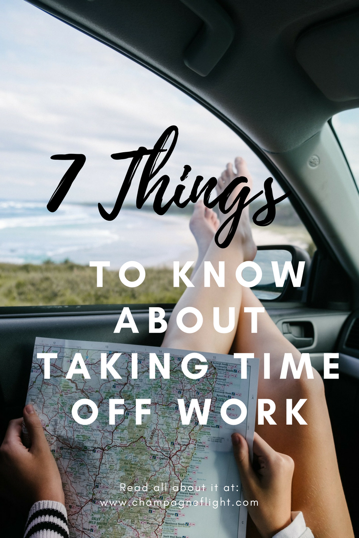 Not sure how many days are appropriate to take off at a time? Don't be scared to use you PTO, it is there for a reason. Click through to check out 7 things to know about taking time off work. #pto #vacation