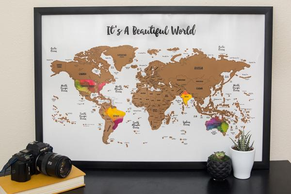 Enter to win a FREE Scratch Your Travels® Mapfrom JetsetterMaps. Two lucky winners will get to choose a map layout from four incredible options: the entire world, USA, Europe, or Canada. This is an awesome way to keep track of your adventures and serves as a gorgeous art piece! Winners will be announced via email #free #travel #wanderlust #map #contest