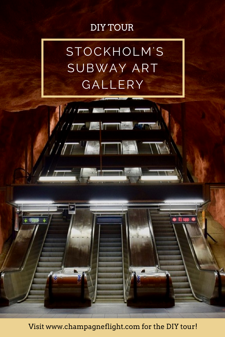Stockholm's largest art gallery can actually be found in its underground subway. Check out this post for a DIY tour!