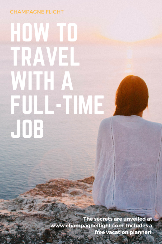Being busy with a full time job doesn't mean you don't have time to travel. Check out this post that will show you how to optimize your time to travel as much as possible! It shows you how to use your vacation days wisely. The post includes a free downloadable to make the planning even easier! #travel #wanderlust #balance #vacation